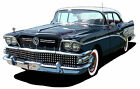 1958 Buick Century canvas art print by Richard Browne black or light blue