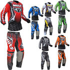 Wulfsport Adult Arena MX Quad Dirt Bike MX Motocross Shirt + Pants Kit Set 2016