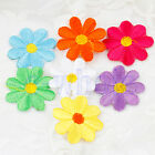 20 Embroidered Cloth Iron On Patch Sew Applique Colorful Flower Child Gifts EW