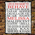 Personalised Metal Disney VILLAINS Dad Mum Wall Sign Valentines Birthday Gift