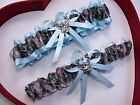 NEW Mossy Oak Camouflage Camo Light Blue White Wedding Garter Prom Deer Hunting