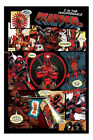 Deadpool Comic Panels Film Movie Poster New - Maxi Size 36 x 24 Inch