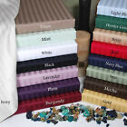 1000TC Bedroom 1PC Ultra Soft Traditional Flat Sheet Stripe 100%Cotton