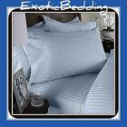 1500 Thread Egyptian Cotton sheet Set - Blue Stripe