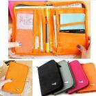 Travel Organiser Passport Tickets Holder Wallet Zip Document Bag Case Storage