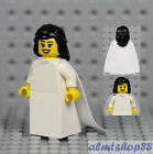 LEGO - PICK & CHOOSE Bride & Groom Minifigures - Wedding Dress Ring Cake Topper