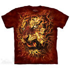 The Mountain Fire Flame Tiger Red Adult Men T-Shirt S-2XL Short Sleeve