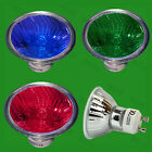 GU10 Coloured Xenon Dimmable Halogen Reflector Spot Light Bulbs Long Life Lamps
