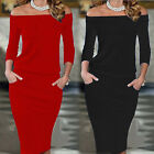 Women Bandage Bodycon Stretch Slim Evening Party Cocktail Mini OL Work Dress