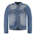 PAMPOLINA Mädchen Jeansjacke JUICY JUNGLE 6684069 Denim Jacke Strass Nieten
