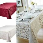 Cady Floral Damask Kitchen Dining Table Cloth Or Place Mats, Table Runner