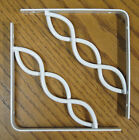 "White Decorative 6"" x 6"" Steel Scroll Shelf Brackets! Lot 1/2/4/6/8/10/12 Metal"