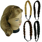 "Synthetic Hair Band Plaited Headband Braided with Elastic 1"" Wide - US Ship"