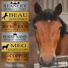 Personalised Metal Horse Stable Door Sign Pony Name Plate Livery Riding