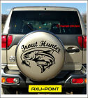 Fly Fishing TROUT HUNTER Spare Wheel Cover Wall Van Car sticker decal