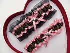 NEW Camouflage Camo Baby Pink Light Pink Wedding Garter Prom Heart & Key * Army