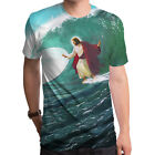 Surfs Up Jesus Men's T-Shirt Ocean Surfing Waves