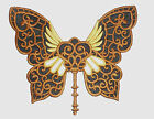 Embroidered Steampunk Butterfly Motif/Patch/Badge/Applique-Custom colours avail