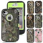 Realtree Camo Hybird ShockProof Rugged Defender Phone Case Cover For iPhone 4 4s