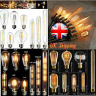 E27 E14 2W/4W/6W/8W LED Vintage Edison Filament Candle Globe Light Lamp Bulb