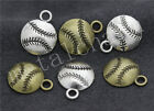 40/200pcs Antique Silver Exquisite Baseball Jewelry Charms Pendant 18x14mm