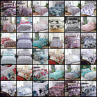 Duvet Cover Bedding Set Single Double King Super Size Pink Blue Black White Grey image