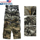 Summer Men's Casual Cargo Shorts Baggy Combat Camo Camouflage Short Pants 32-40