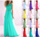 Long Bridesmaid Dress Evening Cocktail Dress Formal Party Prom Gown Size 6-18+