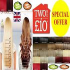 Hair Extensions UK Seller Clip in One Piece half full head real synthetic brown