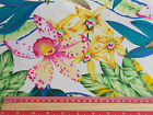 orchid Tropical flowers Fabric / material 100% cotton poplin 112cm wide
