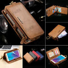Classic Retro Leather Business Wallet Card Slot Case Cover For Various Phones