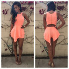 Fashion Women Casual Sexy Bodycon Dress Clubwear Sleeveless Clothes Party Skirt