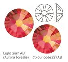 Light Siam AB (Aurora borealis) Swarovski crystals foiled flat back  * 2058*