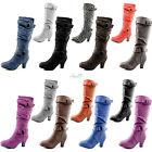 Woman Ankle Strap Comfy Slouch Boots Side Zip Fashion Pocket Cute Winter02 Shoes