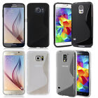 Samsung Galaxy S5/ Galaxy S6 For S-line Gel TPU Rubber Silicone Case Cover X2 for sale  Shawano