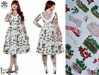 HELL BUNNY Souvenir ~ Rockabilly 50s Sun Dress ~ Vintage Retro Travel Pinup 40s