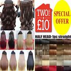 BEST Hair Extensions Real Thick Clip In One Piece feel as Human heat Synthetic