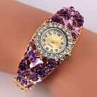 Women's Flower Butterfly Dress Bangle Numbers Dial Rhinestone Cheap New Watches