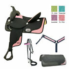15 Inch Western Saddle - Abetta Ostrich Classic Saddle Package - 3 Color Options