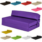 Double Chair Bed Z Faux Leather Guest Fold Out Futon Sofa Mattress Foam Sofabed