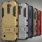 For LG K10 / Premier LTE Case Hybrid Kickstand Protective Dual Layer Phone Cover
