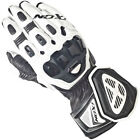 Ixon RS Moto HP Motorcycle Motorbike Goat&Cow Leather Vented Gloves Black/White