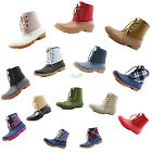 Women Snow Boots Ankle Quilted Collar Cute Duck Padded Mud Rubber RainBoot Shoes