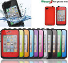 Premium Waterproof Shockproof  Dirtproof Case Protective Cover For iphone 4 4s