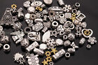 50g(about 90pcs) silver/golden Flower Mixed Caps/Spacer Beads Jewelry making