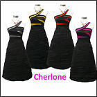 Cherlone Clearance Cheap Black Prom Ball Party Evening Bridesmaid Dress UK 14-16