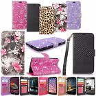 Luxury Bling Glitter Pu Leather Flip Stand Wallet Card Pocket Case Cover W/Strap
