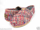 NEW TOMS WOMEN CLASSIC RED BOUCLE ORIGINAL CLASSICS 10003637