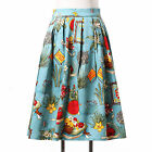 PLUS Women 50's Vintage Retro Clip Wrapped Housewife Swing Skirt Pin Up Dress