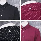 Relco New Mod Retro 60's Pin Dot Print L/S Shirt